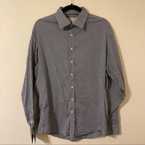 Thomas Pink Check Print Athletic Fit Shirt